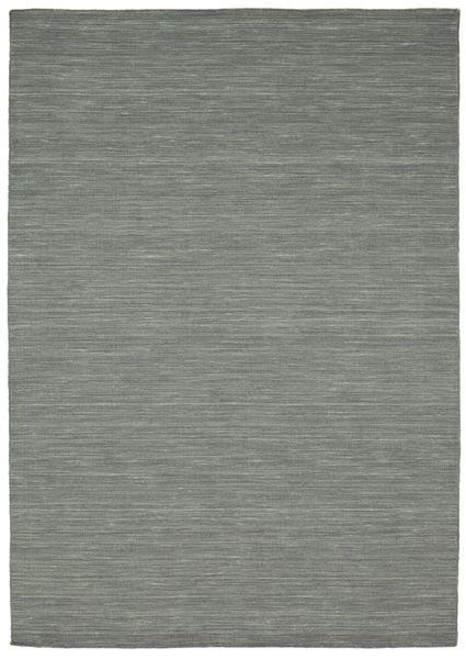 Kilim Loom - Sötétszürke Szőnyeg 160X230 Modern Kézi Szövésű Világosszürke/Sötétzöld (Gyapjú, India)
