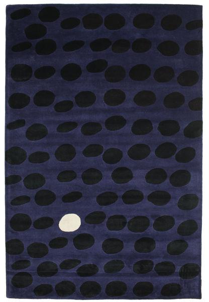 Camouflage Handtufted - Sötét Szőnyeg 200X300 Modern Fekete/Sötétkék (Gyapjú, India)