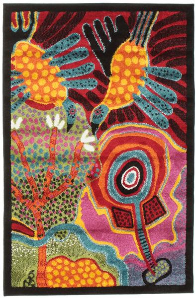 Twins Szőnyeg 100X150 Modern Sötétbarna/Narancssárga ( Törökország)