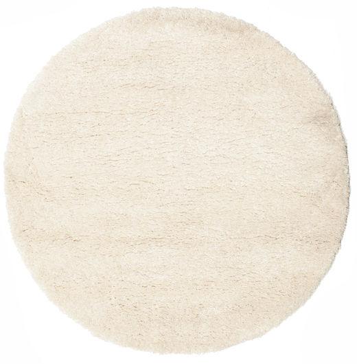Shaggy Sadeh - Off White Szőnyeg Ø 150 Modern Kerek Bézs ( Törökország)
