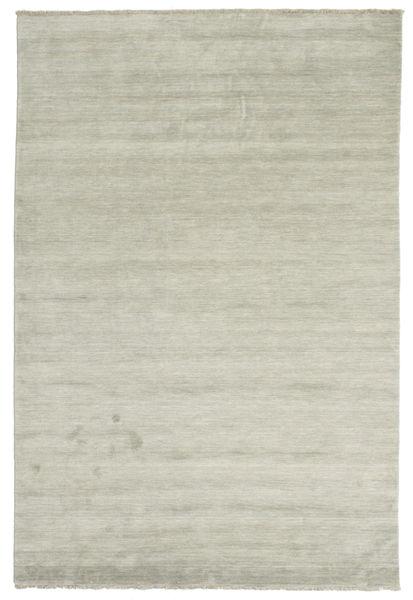Handloom Fringes - Szürke/Világos Zöld Szőnyeg 200X300 Modern Világosszürke/Világosbarna (Gyapjú, India)