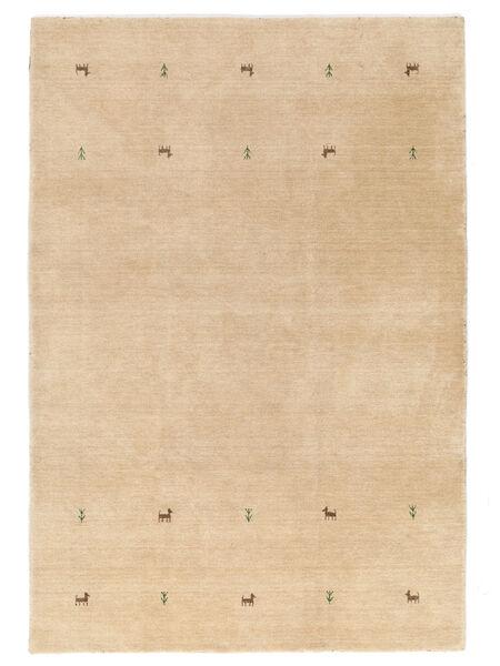 Gabbeh Loom Two Lines - Bézs Szőnyeg 140X200 Modern Sötét Bézs (Gyapjú, India)