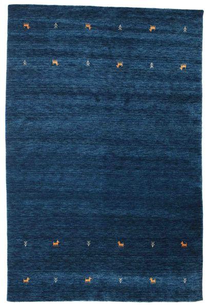 Gabbeh Loom Two Lines - Sötétkék Szőnyeg 190X290 Modern Sötétkék (Gyapjú, India)