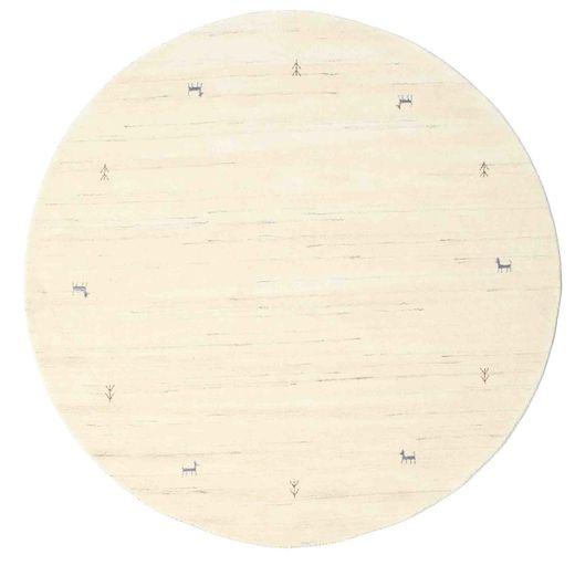 Gabbeh Loom Two Lines - Off White Szőnyeg Ø 200 Modern Kerek Bézs/Bézs/Krém (Gyapjú, India)