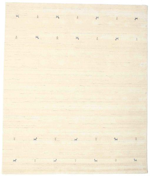 Gabbeh Loom Two Lines - Off White Szőnyeg 240X290 Modern Bézs/Bézs/Krém (Gyapjú, India)