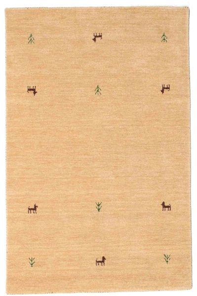 Gabbeh Loom Two Lines - Bézs Szőnyeg 100X160 Modern Sötét Bézs/Világosbarna (Gyapjú, India)