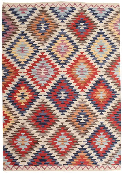 Kilim Usak Szőnyeg 180X275 Modern Kézi Szövésű Világosszürke/Bézs (Gyapjú, India)