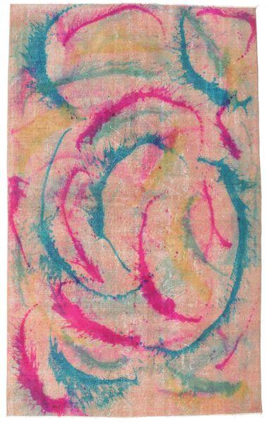Colored Vintage Szőnyeg 164X268 Modern Csomózású Világos Rózsaszín/Bézs (Gyapjú, Törökország)