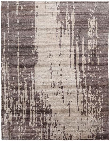 Népali Original Szőnyeg 277X361 Modern Csomózású Világosszürke/Sötétbarna Nagy (Gyapjú/Bamboo Selyem, Nepál/Tibet)