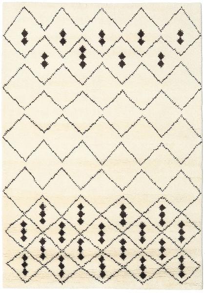 Berber Indiai - Off-White/Fekete Szőnyeg 160X230 Modern Csomózású Bézs/Bézs/Krém (Gyapjú, India)