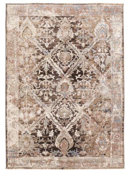 Talitha - Sötét Barna Szőnyeg 200X290 Modern Világosszürke/Bézs/Krém ( Törökország)