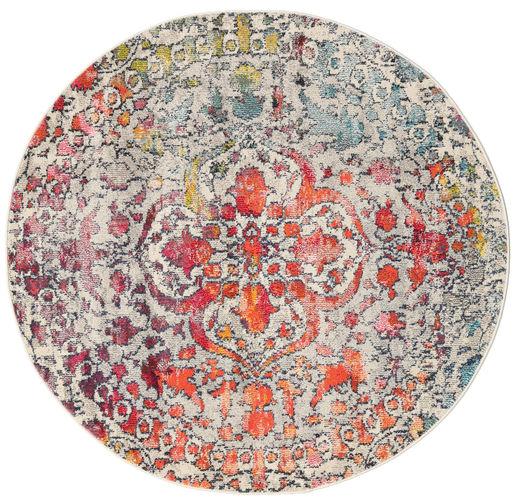 Kaleidoscope - Multi Szőnyeg Ø 150 Modern Kerek Világosszürke/Sötétbarna ( Törökország)