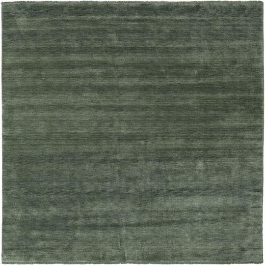 Handloom Fringes - Erdőzöld Szőnyeg 250X250 Modern Szögletes Sötétzöld/Olívazöld Nagy (Gyapjú, India)