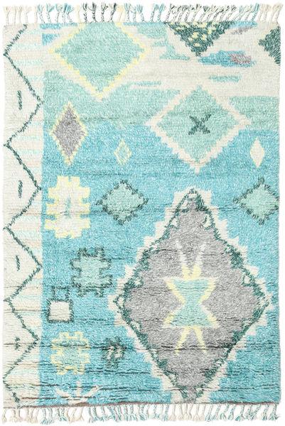 Odda - Turquoise Szőnyeg 160X230 Modern Csomózású Világosszürke/Türkiz Kék (Gyapjú, India)
