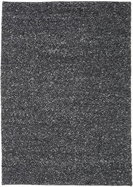 Bubbles - Melange Fekete Szőnyeg 170X240 Modern Sötétszürke (Gyapjú, India)
