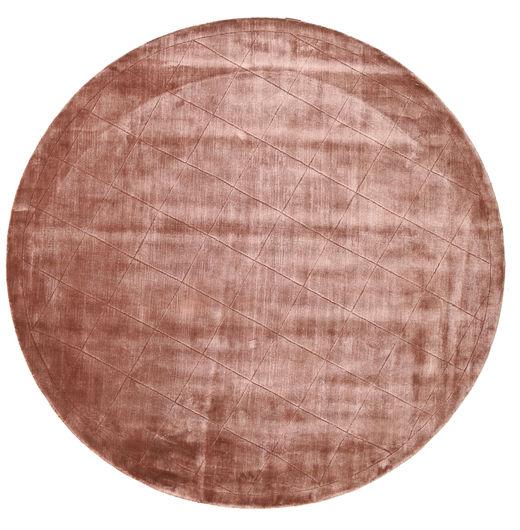 Brooklyn - Pale Copper Szőnyeg Ø 200 Modern Kerek Sötétpiros/Világos Rózsaszín ( India)