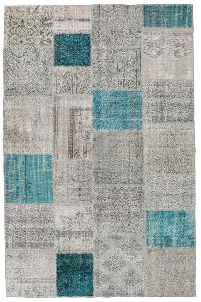 Patchwork Szőnyeg 195X301 Modern Csomózású Világosszürke/Kék (Gyapjú, Törökország)
