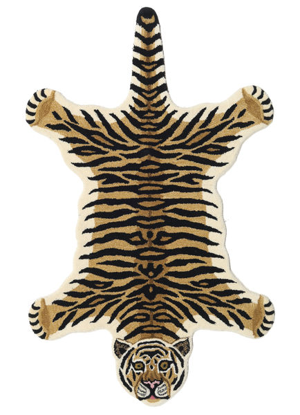 Tiger - Bézs Szőnyeg 100X160 Modern Sötétkék/Világosbarna (Gyapjú, India)
