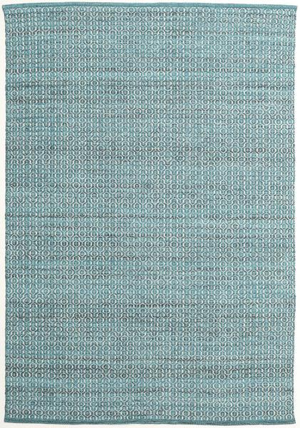 Alva - Turquoise/White Szőnyeg 160X230 Modern Kézi Szövésű Világoskék/Sötét Turquoise (Gyapjú, India)