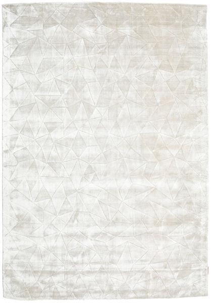 Crystal - Fehér Ezüst Szőnyeg 160X230 Modern Sötét Bézs/Világosszürke ( India)