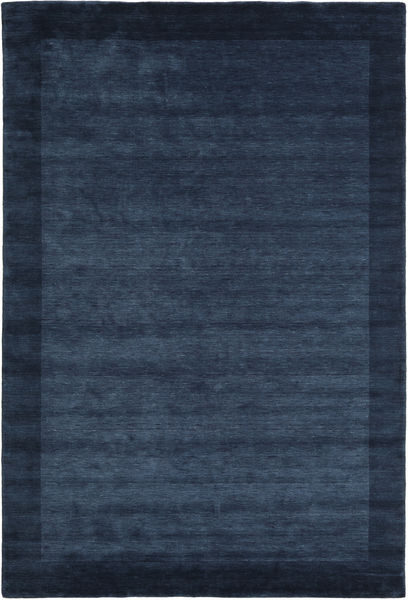 Handloom Frame - Sötétkék Szőnyeg 200X300 Modern Sötétkék/Kék (Gyapjú, India)