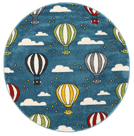Balloons Szőnyeg Ø 150 Modern Kerek Sötétkék/Kék ( Törökország)