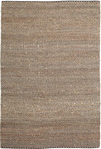 Kültéri Szőnyeg Siri Jute - Natural/Fekete Szőnyeg 300X400 Modern Kézi Szövésű Világosszürke/Bézs Nagy ( India)