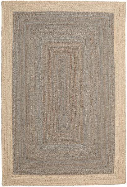 Kültéri Szőnyeg Frida Frame - Szürke/Natural Szőnyeg 200X300 Modern Kézi Szövésű Világosszürke/Bézs ( India)