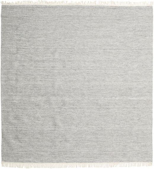 Melange - Szürke Szőnyeg 200X200 Modern Kézi Szövésű Szögletes Világosszürke (Gyapjú, India)