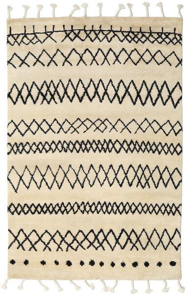 Beni Berber Szőnyeg 180X275 Modern Csomózású Bézs/Sárga (Gyapjú, India)