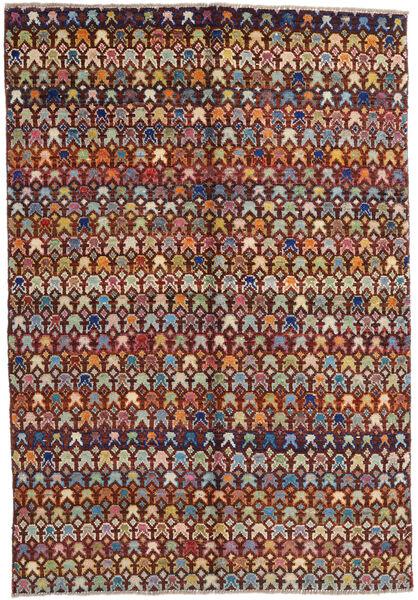 Moroccan Berber - Afghanistan Szőnyeg 171X249 Modern Csomózású Sötétbarna/Világosbarna (Gyapjú, Afganisztán)