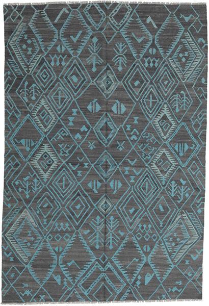Kilim Modern Szőnyeg 197X291 Modern Kézi Szövésű Világoskék/Kék (Gyapjú, Afganisztán)