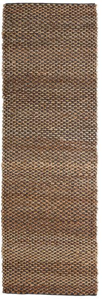 Kültéri Szőnyeg Siri Jute - Natural/Fekete Szőnyeg 80X250 Modern Kézi Szövésű Barna/Sötétbarna ( India)