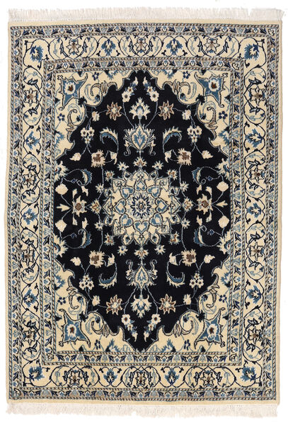 Nain Szőnyeg 145X205 Keleti Csomózású Sötétszürke/Világosszürke (Gyapjú, Perzsia/Irán)