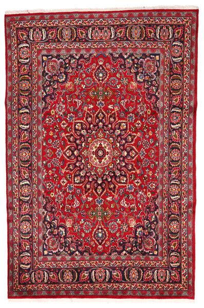 Mashad Szőnyeg 197X280 Keleti Csomózású Piros/Sötétbarna (Gyapjú, Perzsia/Irán)