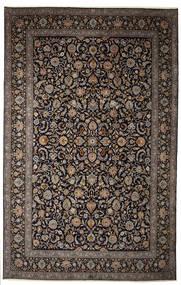 Kashan Aláírás: Parvari Szőnyeg 400X615 Keleti Csomózású Sötétbarna/Sötétszürke Nagy (Gyapjú, Perzsia/Irán)