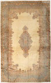 Kerman Aláírás: Kermani Szőnyeg 385X630 Keleti Csomózású Világosbarna/Sötét Bézs Nagy (Gyapjú, Perzsia/Irán)
