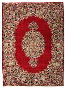 Kerman Patina Szőnyeg 277X374 Keleti Csomózású Sötétpiros/Világosbarna Nagy (Gyapjú, Perzsia/Irán)