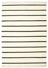 Dorri Stripe - White/Fekete Szőnyeg 140X200 Modern Kézi Szövésű Bézs/Bézs/Krém (Gyapjú, India)
