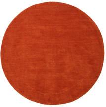 Handloom - Rozsdaszín/Piros Szőnyeg Ø 150 Modern Kerek Rozsdaszín (Gyapjú, India)