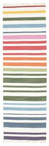 Rainbow Stripe - White Szőnyeg 80X250 Modern Kézi Szövésű Bézs/Bézs/Krém (Pamut, India)