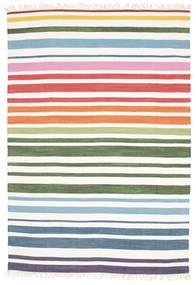 Rainbow Stripe - White Szőnyeg 160X230 Modern Kézi Szövésű Bézs/Krém (Pamut, India)