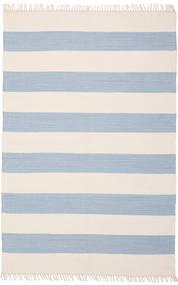 Cotton Stripe - Világos Kék Szőnyeg 140X200 Modern Kézi Szövésű Bézs/Világoskék (Pamut, India)