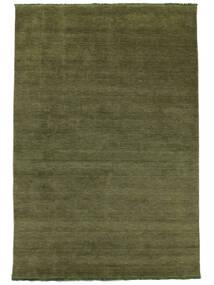 Handloom Fringes - Zöld Szőnyeg 200X300 Modern Olívazöld/Sötétzöld (Gyapjú, India)