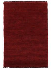 Handloom Fringes - Sötétpiros Szőnyeg 140X200 Modern Piros (Gyapjú, India)
