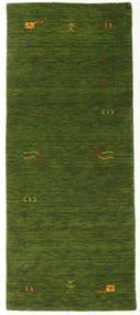 Gabbeh Loom Frame - Zöld Szőnyeg 80X200 Modern Sötétzöld (Gyapjú, India)