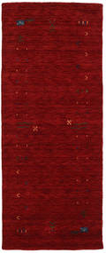 Gabbeh Loom Frame - Piros Szőnyeg 80X200 Modern Sötétpiros (Gyapjú, India)