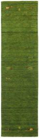 Gabbeh Loom Frame - Zöld Szőnyeg 80X300 Modern Sötétzöld/Olívazöld (Gyapjú, India)