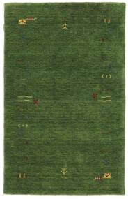 Gabbeh Loom Frame - Zöld Szőnyeg 100X160 Modern Sötétzöld/Sötétzöld (Gyapjú, India)