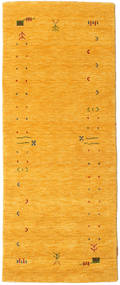 Gabbeh Loom Frame - Sárga Szőnyeg 80X200 Modern Narancssárga (Gyapjú, India)
